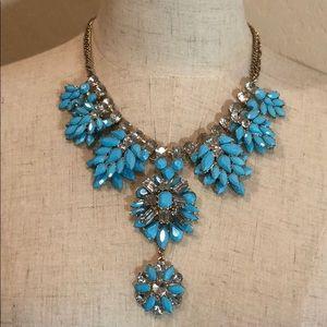 Natasha Faux Turquoise Jeweled Necklace